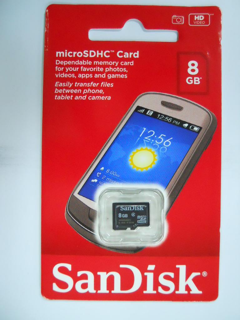 SanDisk microSDHC Memory Card 8GB