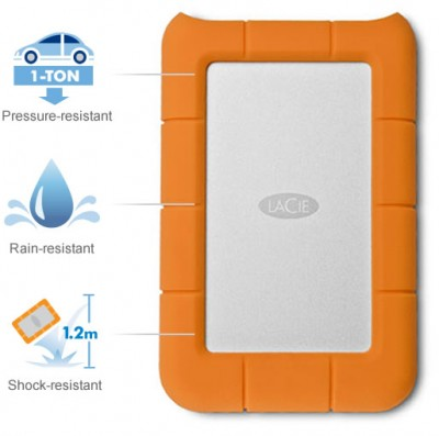 LaCie Rugged Mini 2TB USB 3.0 - LAC9000298