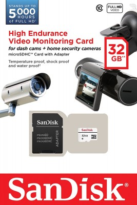 SanDisk Micro 32GB Video Monitoring SDHC C10 20MB/s