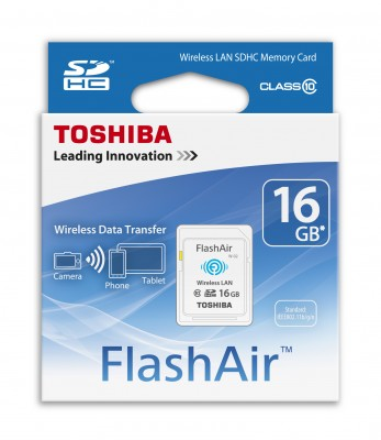 Thẻ nhớ SD Toshiba 16GB Flash Air Wireless Class 10 / Wifi SD Card