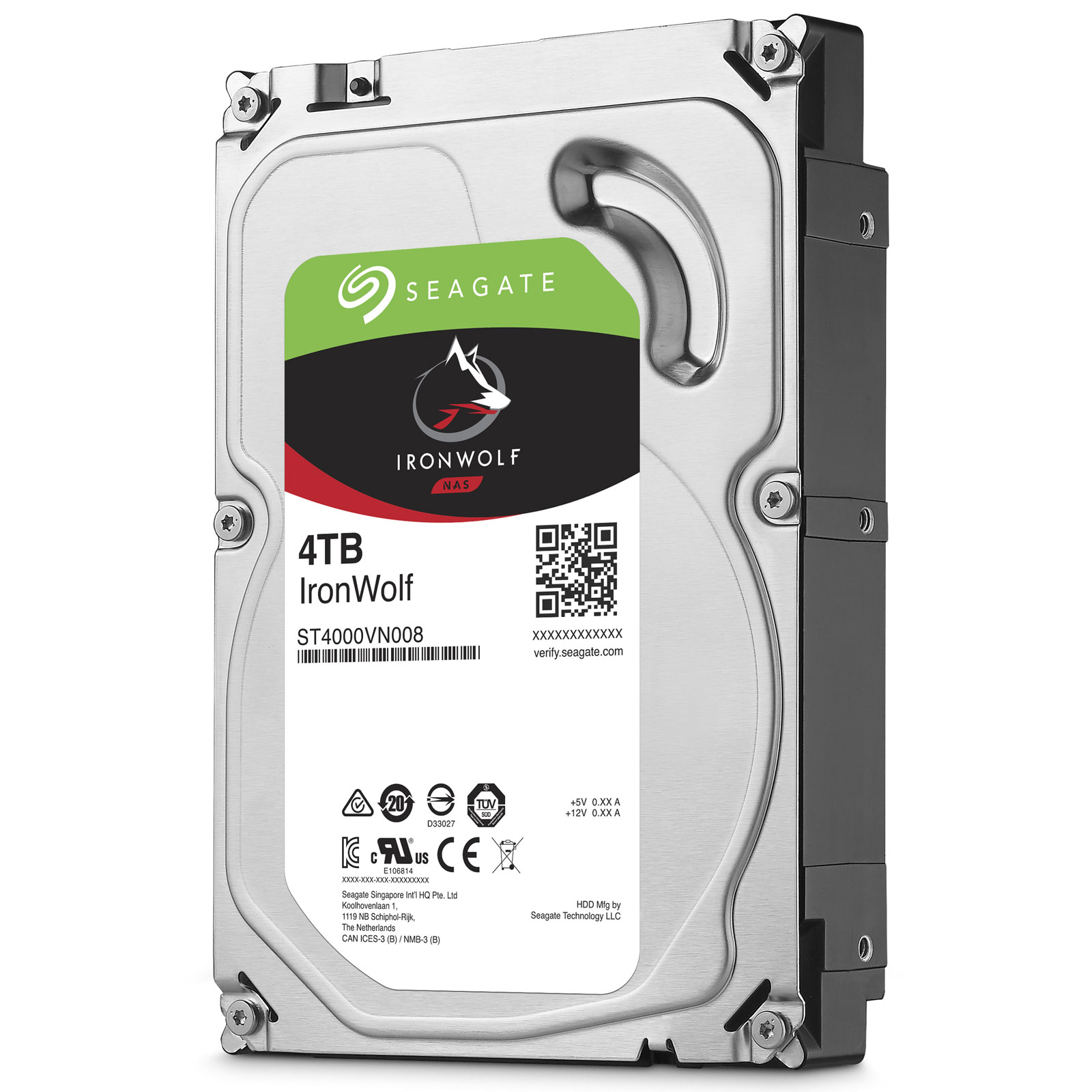 Ổ Cứng HDD NAS Seagate IronWolf 4TB -   ST4000VN008