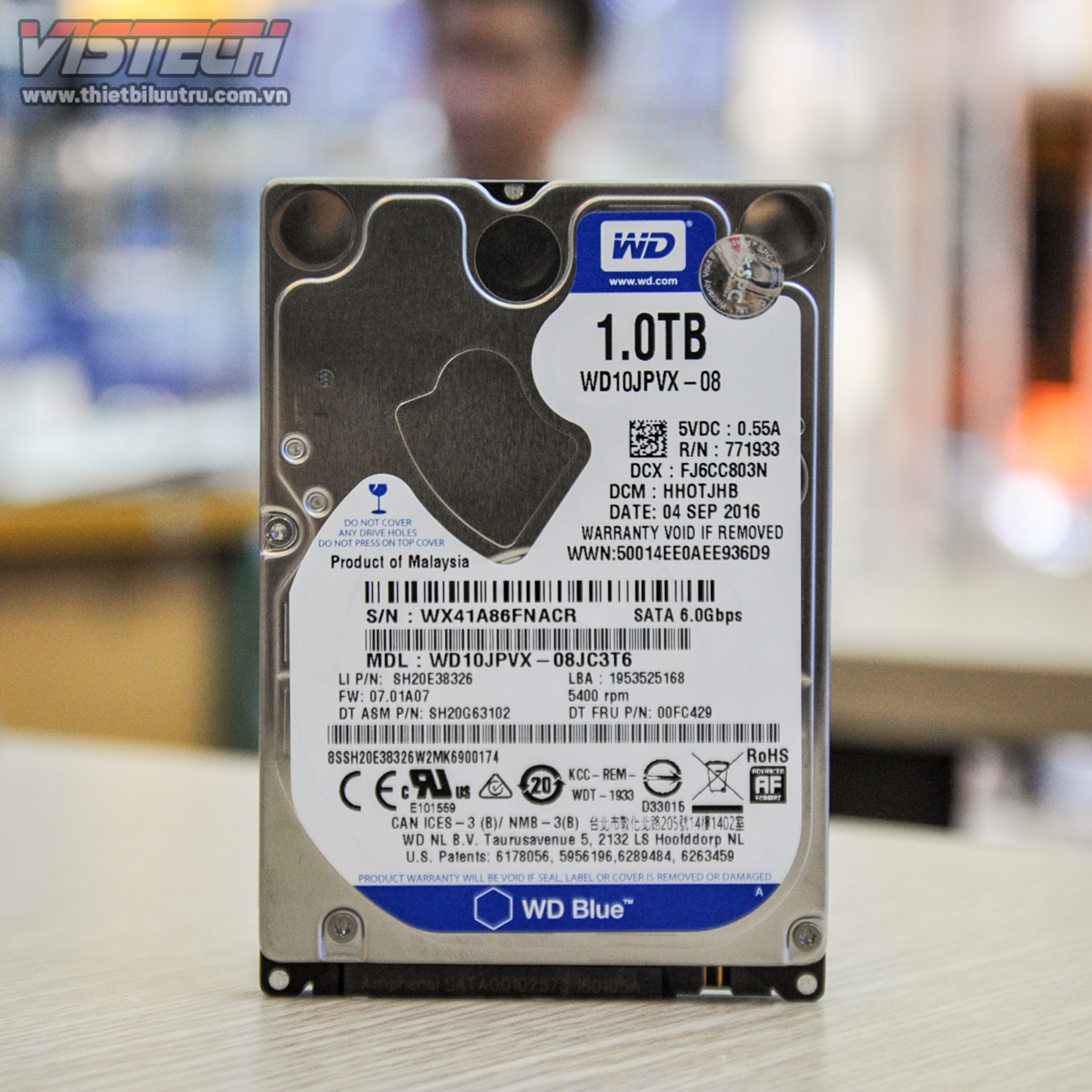 Cng Laptop Wd Blue 1tb 25 Wd10jpvx Harddisk Wb Hardisk