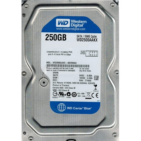 "HDD WD Blue 250GB 3.5"" WD2500AAKX"