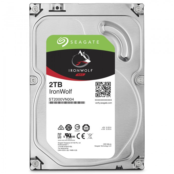 Ổ Cứng HDD NAS Seagate IronWolf 2TB - ST2000VN004