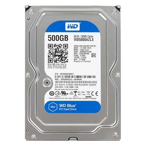 "Ổ cứng WD Blue 500GB 3.5"" WD5000AZLX"