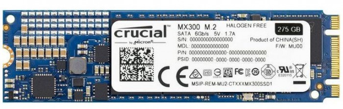 SSD Crucial MX300 M2 275GB CT275MX300SSD4