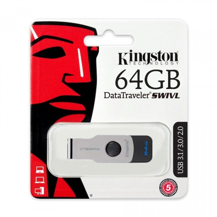 Usb Kingston DataTraveler SWIVL 64GB  USB 3.0 DTSWIVL/16GB