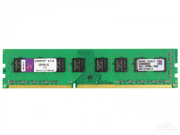 Ram PC Kingston 8GB DDR3-1600 LONG DIMM - KVR16N11/8