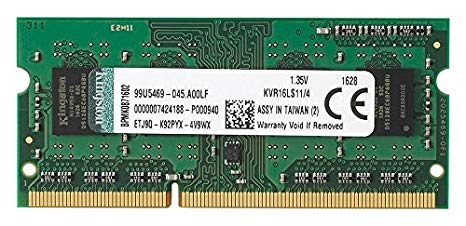 Ram Laptop Kingston 4GB DDR3L-1600 SODIMM 1.35V