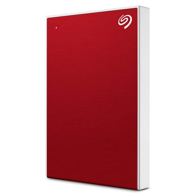 Ổ cứng cắm ngoài Seagate Backup Plus Slim – Polished aluminium 1TB Red – STHN1000403