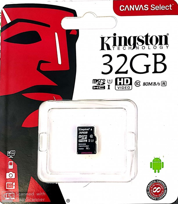 Thẻ microSD Canvas Select của Kingston 32GB