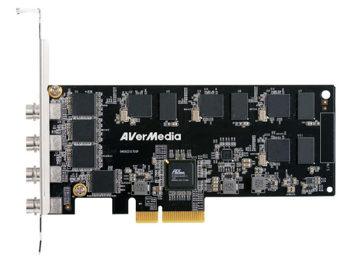 AverMedia 1080p30 SDI Quad-Channel H.264 H/W Encode PCIe Video Capture Card CL334-SNq