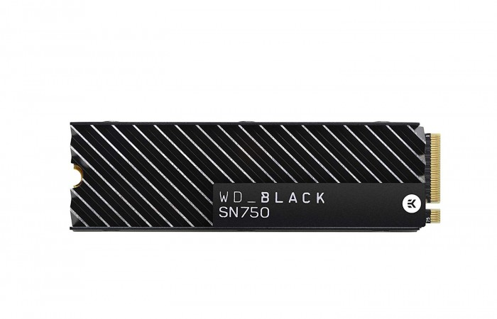Ổ cứng gắn trong WD Black SN750 500GB NVMe Internal Gaming SSD with Heatsink - Gen3 PCIe, M.2 2280, 3D NAND, Read up to 3470MB, Write up to 2500MB, up to 410K 330K IOPS, 5Y WTY - WDS500G3XHC