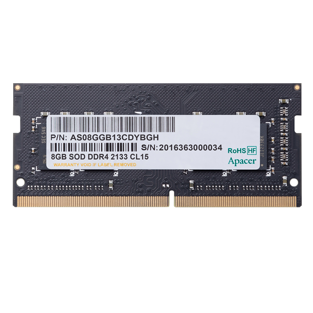 Ram Laptop Apacer DDR4 4GB Bus 2400Mhz 1.2v - A4S04G24CEIBH05-1
