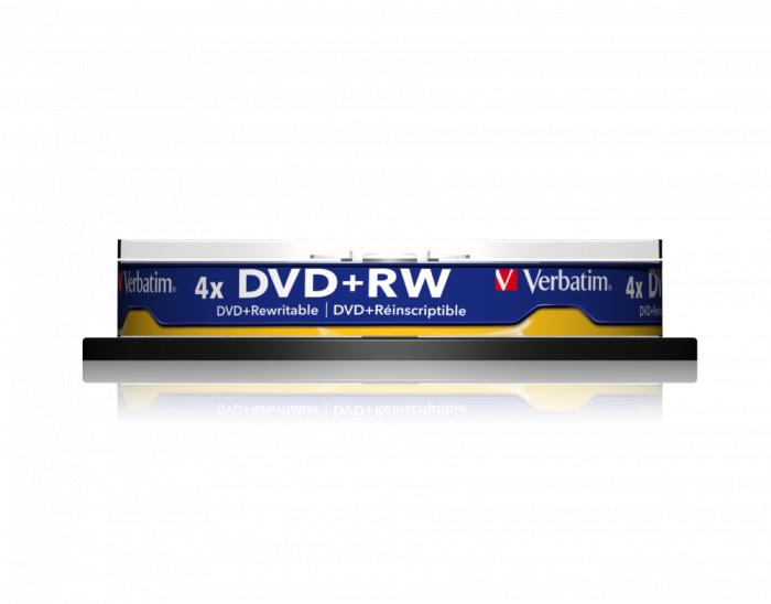 Đĩa Verbatim DVD+RW 4.7GB 4X 10pk Spindle