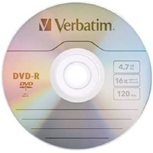 Đĩa Verbatim AZO DVD-R 4.7GB 16X with Branded Surface - 50pk Spindle
