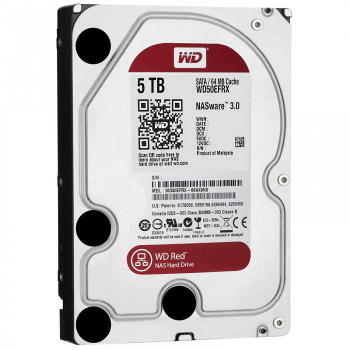 "WD HDD Caviar Red 5TB 3.5""- WD50EFRX"