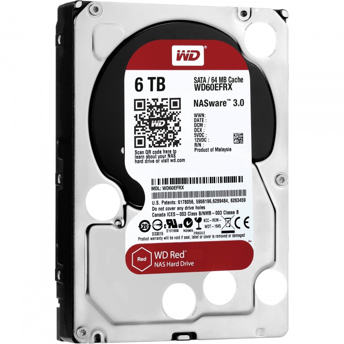 "WD HDD Caviar Red 6TB 3.5""( WD60EFRX)"