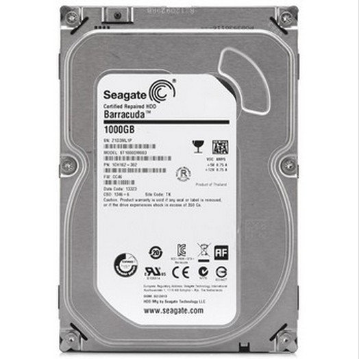 HDD Seagate Internal Barracuda 1TB SATA 3, 7200 RPM
