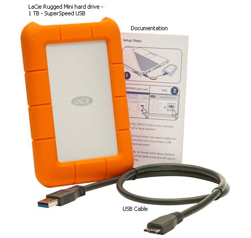 Lacie Rugged Mini 1tb Usb 3 0 Lac301558